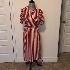 Leslie Fay  striped dress 6P